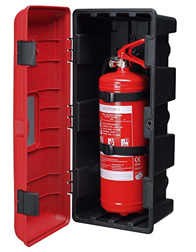 Victory Fire Extinguisher Cabinet, 10 lb, Red Cover/Plastic