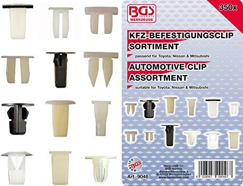 BGS 9046 | Kfz-Befestigungsclip-Sortiment für Toyota, Nissan, Mitsubishi | 350-tlg