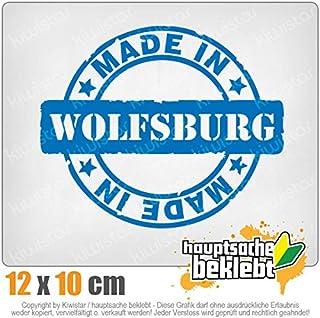 Kiwistar Made in Wolfsburg 12 x 10 cm IN 15 Farben - Neon  Chrom! Sticker Aufkleber