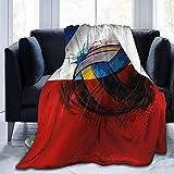 not applicable Manta de Lana de vellón ondeando la Bandera de Chile Cosida Mantas acogedoras Alfombra térmica térmica portátil para sofá Cama