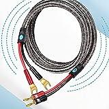 Cable de Altavoz HiFi con plátano con Enchufe de Pala para el Amplificador de Cine en casa Caja de Sonido 2Y al Cable de Audio del plátano OFC 1M 2M 3M 5M 8M