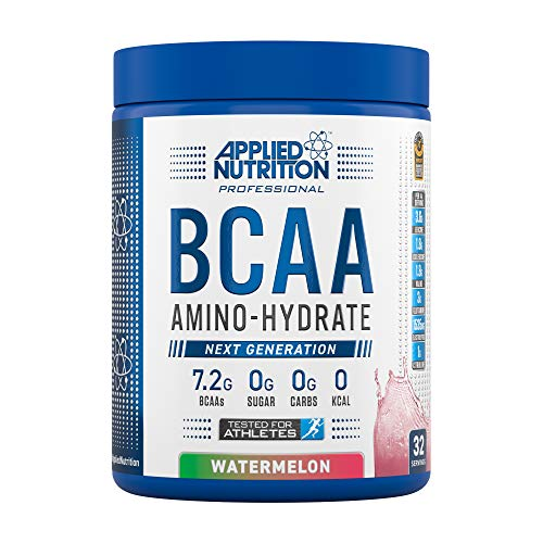 Applied Nutrition BCAA Powder Branched Chain Amino Acids Supplement with Vitamin B6, Replenish Electrolytes, Amino Hydrate Intra Workout and Recovery Powdered Energy Drink 450g (Watermelon)