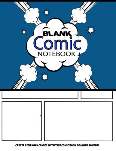 """Blank Comic Notebook : Create Your Own Comics With This Comic Book Drawing Journal: Big Size 8.5"""" x 11"""" Large, Over 100 Pages To Create Cartoons / Comics (Blank Comic Books) (Volume 8)"""