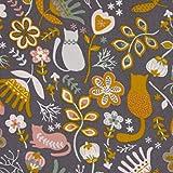 SCHÖNER LEBEN. Cordstoff Baumwoll-Cord Feincord Blumen