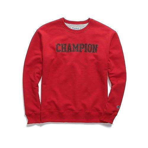 Champion Mens Powerblend Fleece Crew Mesh-Effect Logo (GF88H Y07420)
