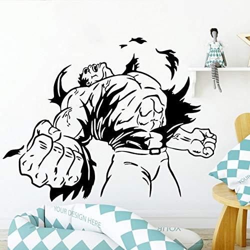 SUPWALS Pegatina de Pared de cómics decoración de Dormitorio Moderno Hulk Vinilo Fresco guardería Interior Pared calcomanía niños Dormitorio Arte decoración