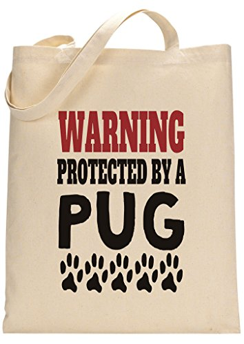 Protected By Pug Custom Made Tote Bag