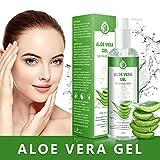 Aloe Vera Gel - 100% Bio für Gesicht, Haare und Körper – Vegan, Rein und Natürlich...