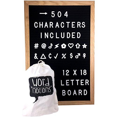 Large Felt Letter Board - 12 x 18   504 1
