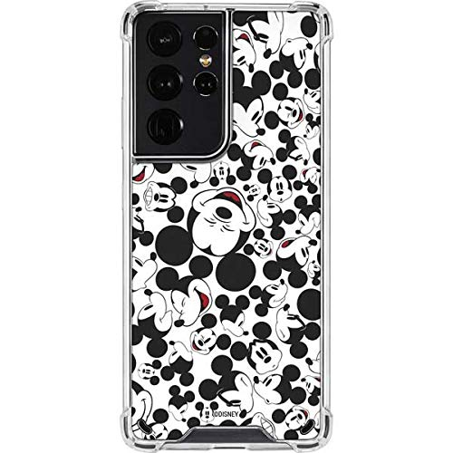 Skinit Clear Phone Case Compatible with Galaxy S21 Ultra 5G - Officially Licensed Disney Mickey Mouse Design