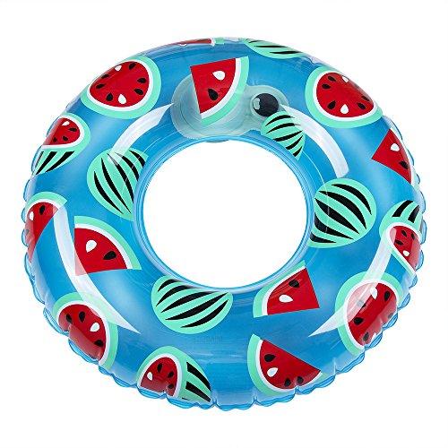 HOMEIDOL 浮き輪 浮輪 (直径60cm 子供用) 簡単に空気入れ 便利に携帯 泳ぐ 水遊び スイカ 海水浴 プール