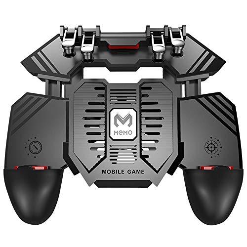 AK77 Six Finger Todo-en-Uno de Dispositivo de Juego móvil con Dos Ventiladores Botón Libre Clave de Fuego Joystick Gamepad Radiador...