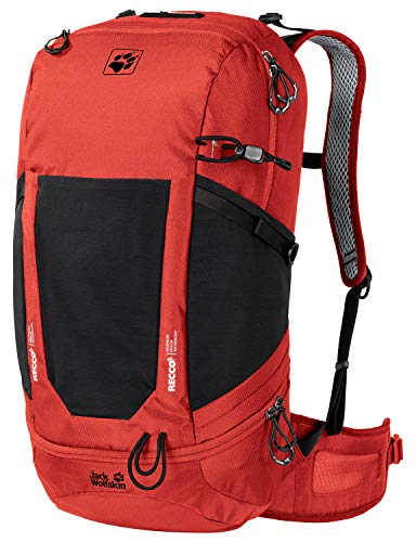Jack Wolfskin Kingston Lot de 30 sacs à dos de randonnée ventilés Recco Unisexe Taille unique Lave rouge