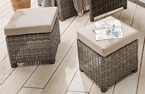 Destiny Loungegruppe Bergamo Eckgruppe Mixed Grey Lounge Garnitur Dininglounge - 6