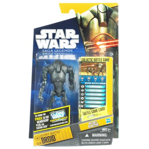 Star Wars, Saga Legends 2011 Series Action Figure, Super Battle Droid #SL28, 3.75 Inches