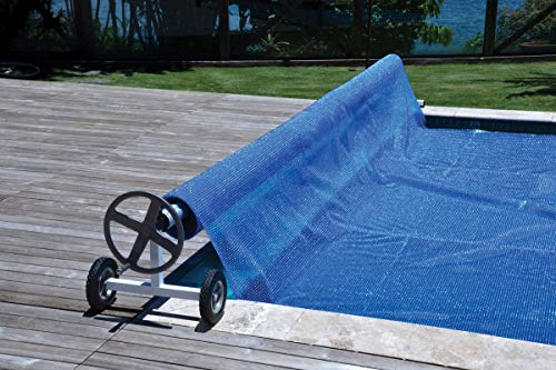 Kokido Aluminum Solar Cover Reel for In-Ground Swimming Pools | Adjustable Length Expands Up to 21-Feet | Easy-to-Turn Handle for Reeling in Solar Blanket | Built Durable and Resistant to Corrosion