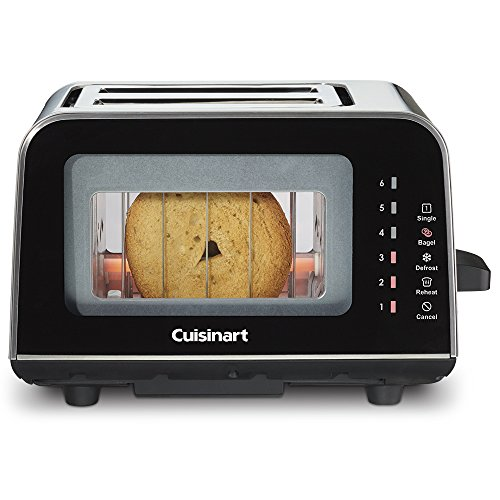 Cuisinart cpt-3000VIEWPROガラス2スライストースター、ブラック
