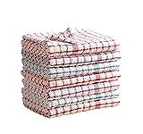 Paños de cocina de Mas International en lotes de 2, 4, 6, 8, 10 y 12 de algodón 100 % de tacto suave, algodón, Pack de 2