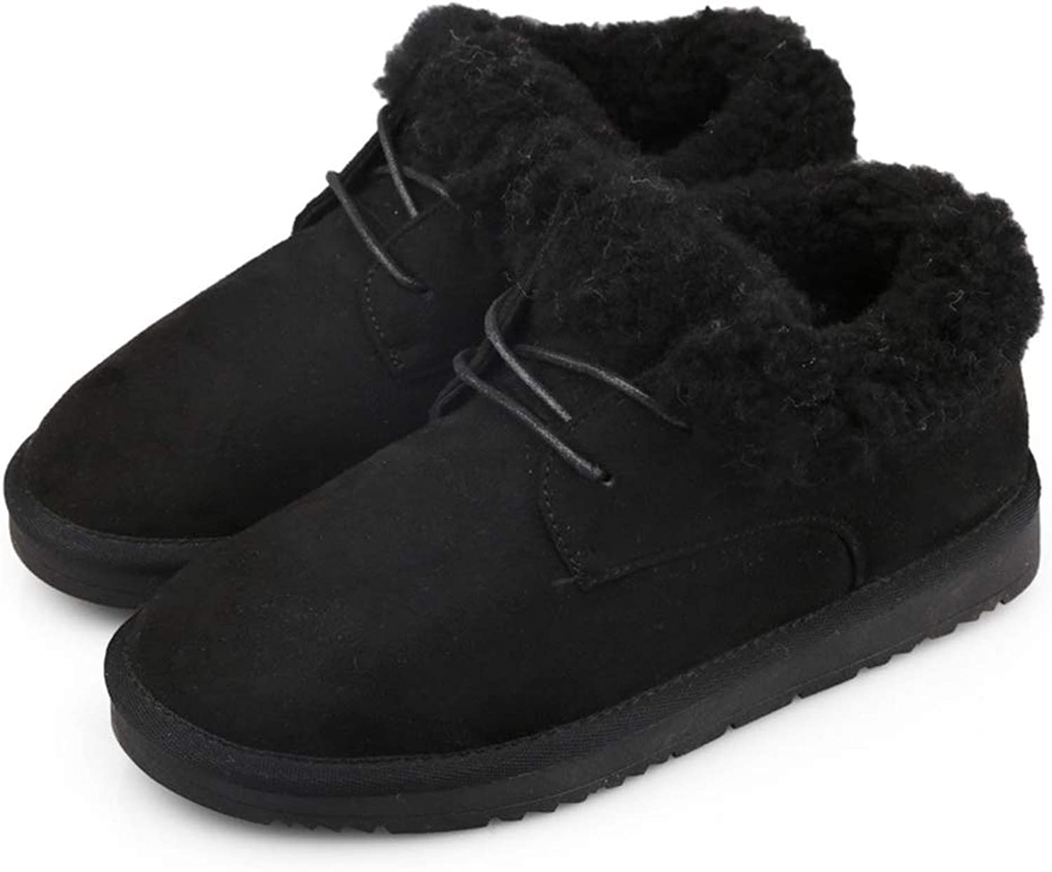 Kyle Walsh Pa Women Winter Boots Soft Warm Fur Lace-up Female Soft Comfortable Flats shoes