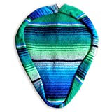Authentic Mexican Blanket/Serape' Bicycle Seat/Saddle Cover/Handmade Bike Seat/Unique and Stylish for CruzIn Beach Boardwalks (Green/Blue)