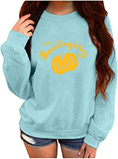 Womens Casual Long Sleeve Print Hoodie T-Shirt Hooded Sweatshirt Tops Pullover Blouses (S-2XL)