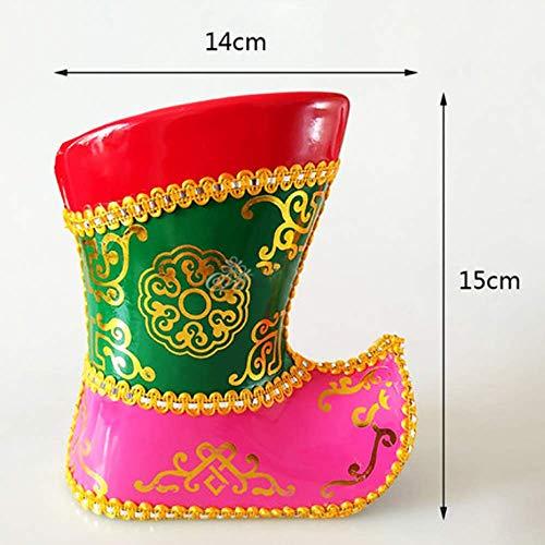 ZXWNB Kleine Stiefel Stifthalter Innere Mongolei Charakteristische Schuhe Aufbewahrungsgeschenk Mongolische Schmuckschatulle Jurte Modell Dekoration Aufbewahrungsschachtel Handwerk,Medium,1