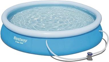 Bestway Fast Set 57274 - Piscina (Piscina hinchable, Círculo, 5377 L, Azul, 61 cm, PVC)