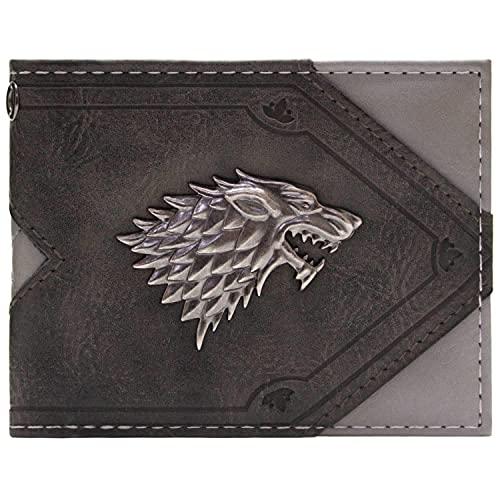 House Stark Game of Thrones Haus Stark Dire Wolf Portemonnaie Geldbörse Grau