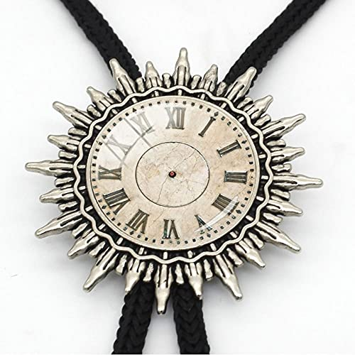 MXEHC Bolo Corbata Corbata Bolo Steampunk Reloj de Reloj Corbata Corbata Corbata Corbata de Metal Hecho a Mano bolo Corbata Vidrio cúpula Moda metálico bolo Corbata Corbata bolo (Color : 42)