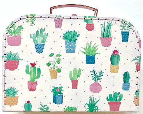 Sass and Belle Koffer/Kinderkoffer/Puppenkoffer/Aufbewahrungsbox. Pappkoffer, 3 Verschiedene Größen. (Pastel Cactus, M/Mittel)