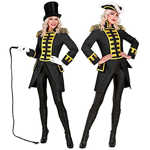 WIDMANN Widmann-49044 49044 – Uniforme de Garde Negro para Mujer, Parade, chaqueta, abrigo, director de circo, disfraz, carnaval, fiesta temática, multicolor, extra-large