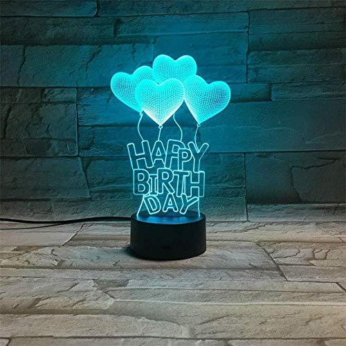 Linterna Mágica 3D Led Luz Nocturna Bombilla Visual Colorida Lámpara De Mesa Táctil Óptica Vacaciones Románticas Amor Regalo De Cumpleaños