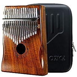 Moozica 17 Schlüssel Kalimba Marimba, High Qualität Professionelle Finger Daumen Piano Musikinstrument Geschenk (Koa Holz-K17K)