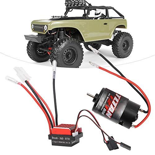 550 RC Brushed Motor 360A Elektromotor Passend für RC Rock Crawler Rock Racer im Maßstab 1:10(35T)