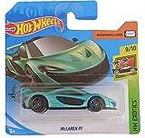 Hot Wheels McLaren P1 (azul azulado) 9/10 HW Exotics 2020 - 149/250 (tarjeta corta) GHC36
