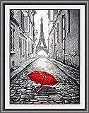 Un beso en los kits de punto de cruz Paris 11ct Kit de punto de cruz de hilo de algod¨®n egipcio