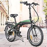 Bicicleta Eléctrica Plegable de 20 Pulgadas, 350W 36V 10AH/7.5AH Velocidad máxima 25 km/h 3 Modos de conducción,Resistencia 50-55 kilómetros, con Asistencia de Pedal,Bici Electricas Adulto,