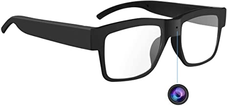 Camera Glasses 1080P,HD Mini Video Glasses Max 32GB Memory Card – Eye Glasses with..