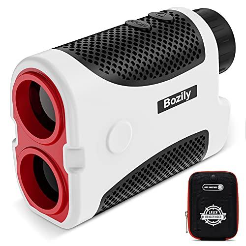 Bozily Golf Entfernungsmesser 6X, Laser Entfernungsmesser 800 yards/731 m Flag-Lock Piste Entschädigungsberechnung Kontinuierlicher Scan Messlaser - 2 x CR2 Batterie