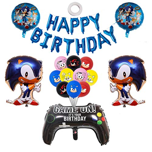 Sonic The Hedgehog Party Supplies Sonic Balloons for Birthday Party Baby Shower Decorations