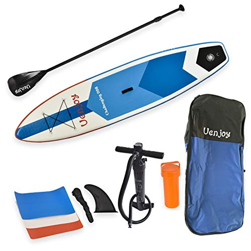 Uenjoy 11' Inflatable Stand Up Paddle Board (6 Inches Thick) Non-Slip Deck...