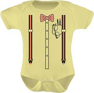 Tstars - Halloween Nerd Suspenders Bowtie Geek Easy Costume Baby Bodysuit