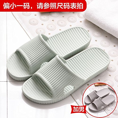 BAOZIV587 Home Outdoor Slippers Goed uitziende Slippers Vrouwelijke Zomer Mode Thuis Indoor Licht en Deodorant Badkamer Comfortabele Roze Word Drag Man Female [ 40-41 ] + male [ 42-43 ] Grass Green 2+ gray 2