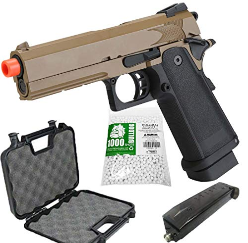 Airsoft HICAPA 43 Desert CO2 Pistol with Free Speed Loader BBS and Gun Case Airsoft Blowback
