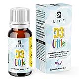 Vitamina D3 en Gotas, 400UI Frasco con 300 Gotas 10ml B Life…