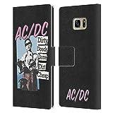 Head Case Designs Licenciado Oficialmente AC/DC ACDC Dirty Acciones Hecho Sucio Barato Títulos de Canciones Carcasa de Cuero Tipo Libro Compatible con Samsung Galaxy S7 Edge