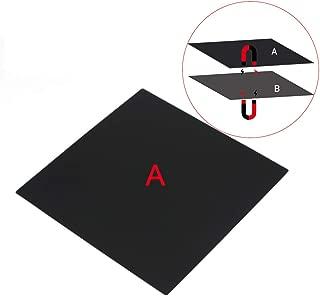 FYSETC 3D Printer Magnetic Build Surface A Plate, 200X200 mm New Flex Magnetic Bed Build Plate for Steel Spring Surface Sheet for Maker Select Plus V2 Prusa i3 Vinci 1.0 Tarantula I3 Ultimate Printer,