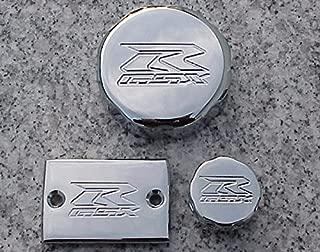 i5 Suzuki GSXR 600 750 1000 GSXR600 GSXR750 GSXR1000 CHROME FLUID CAP SET