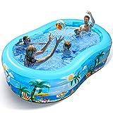 iBaseToy Aufblasbarer Pool - Groß Planschbecken für Kinder, Erwachsene, Babys und Kleinkinder,...