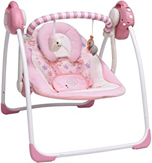 Soothing Portable Swing,Comfort Electric Baby Rocking Chair with Intelligent Music Vibration Box That Can Be Used from The...